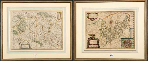 "Guiljelmus Blaeu (1600-1699). ""Franconia vulgo Frankenlandt"" und ""Territoríum Norimbergense""."