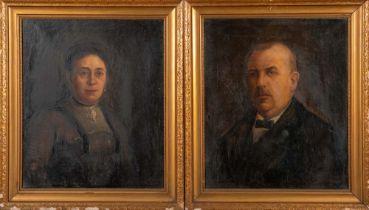 Robert Haas (1898-1997). Damen- und Herrenporträt. Öl/Lw., re./u./sign./dat. (19)21, gerahmt, je