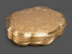 Louis XV-Tabatière Paris, Meister Pierre Delions 1732 Kartuschenförmig, mit nach oben zu öffnendem