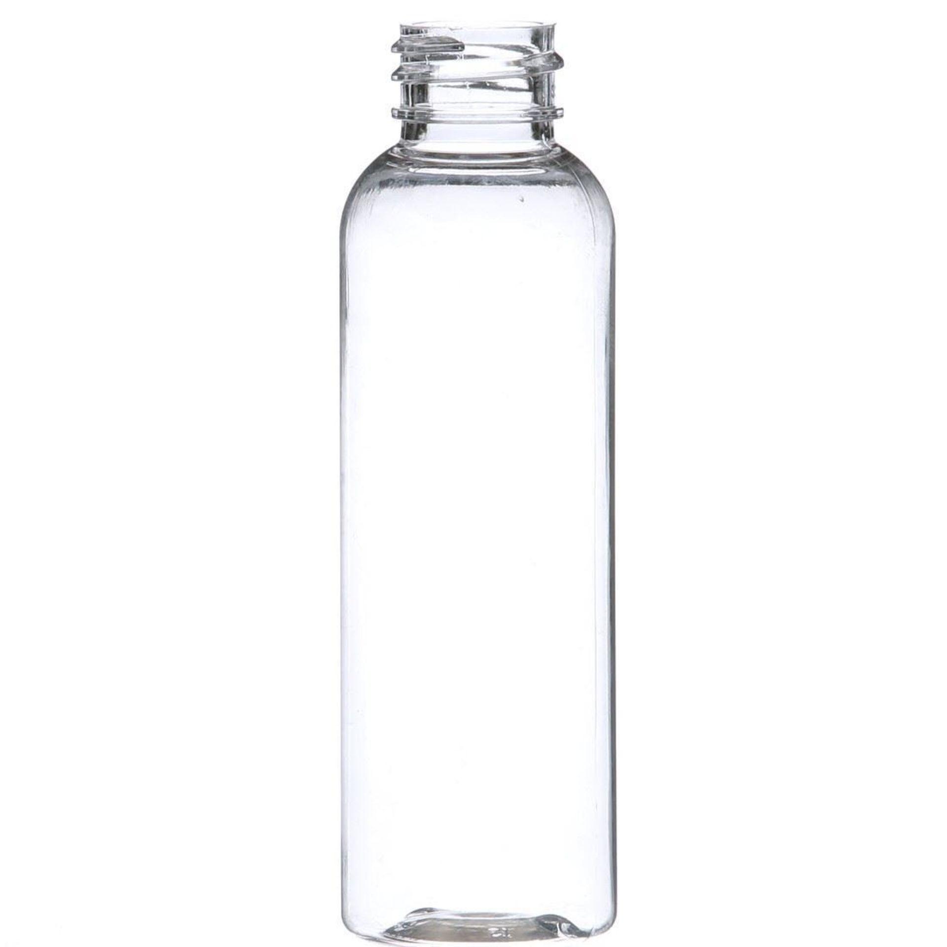 "99,500 - Clear Plastic Bullet 2 oz Empty Bottles, 18-410 Threading Neck, 4.25"" Tall 1.25"" Diameter"
