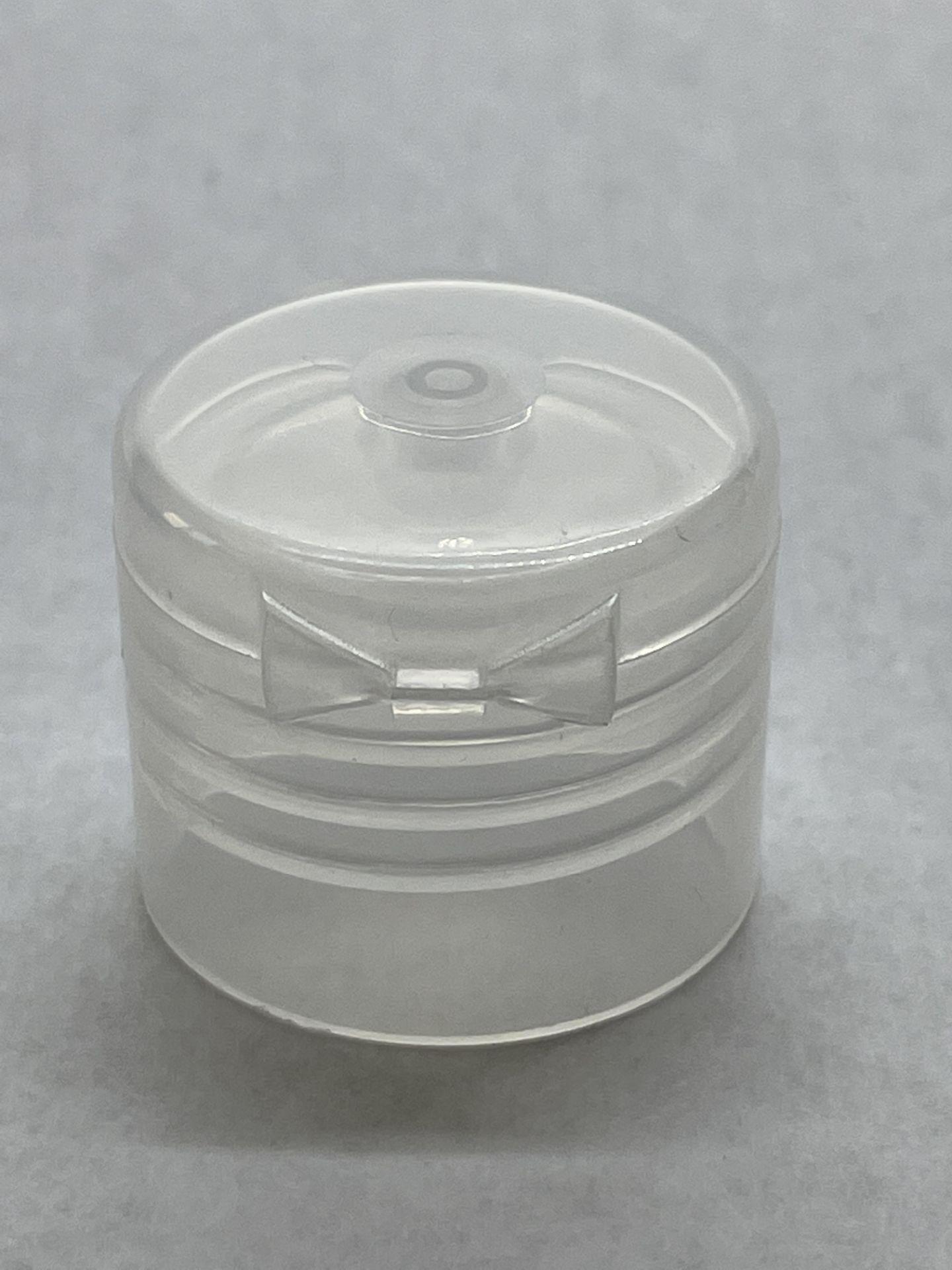 128,000 - Clear Flip Bottle Caps for 4oz and 8oz bottle, 24-410 - Image 3 of 4