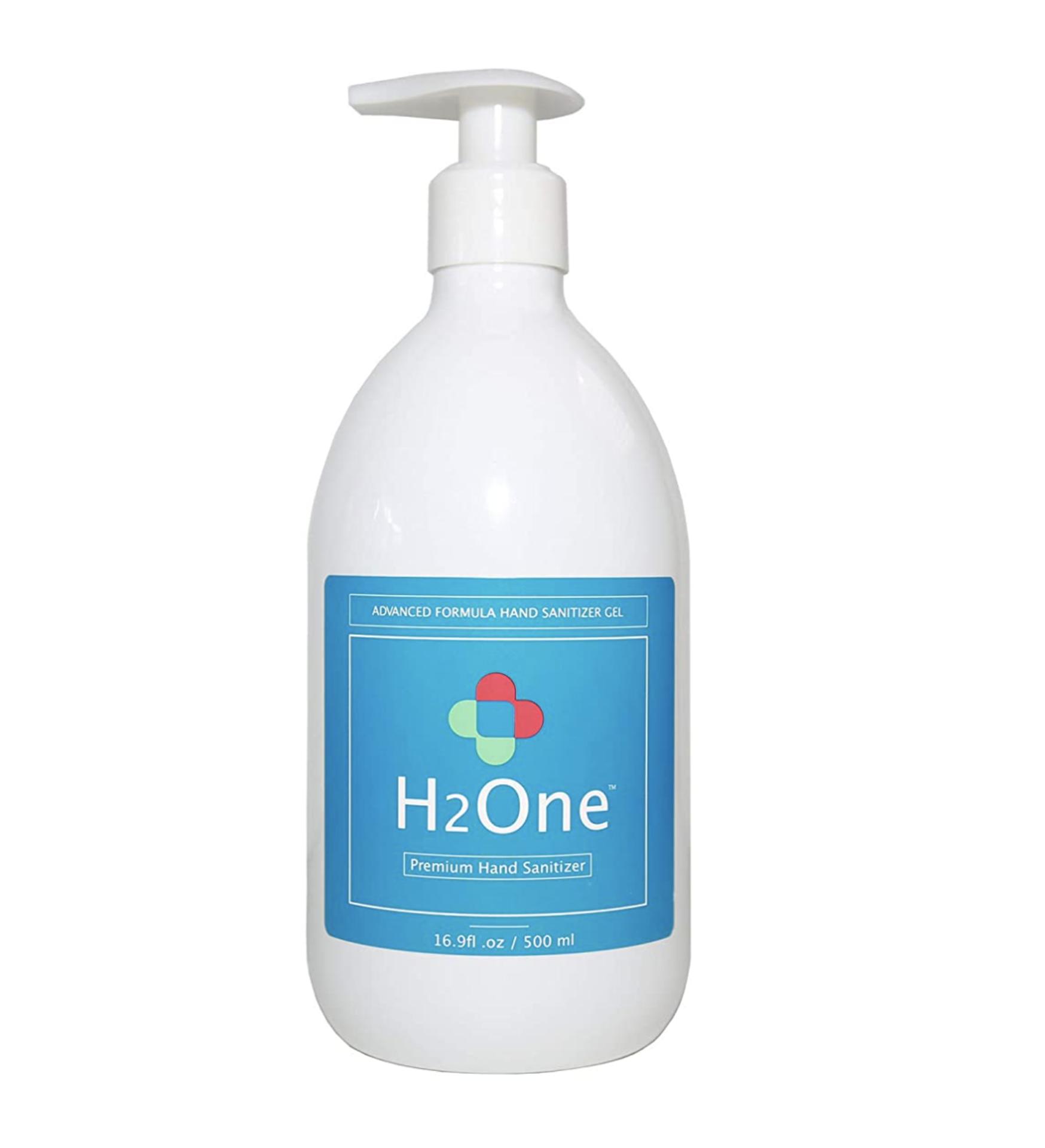 3,250 Bottles of H2One Pump Bottle Hand Sanitizer Gel, 500 ML, 16.9 OZ, 75% Alcohol Based (Ethanol)