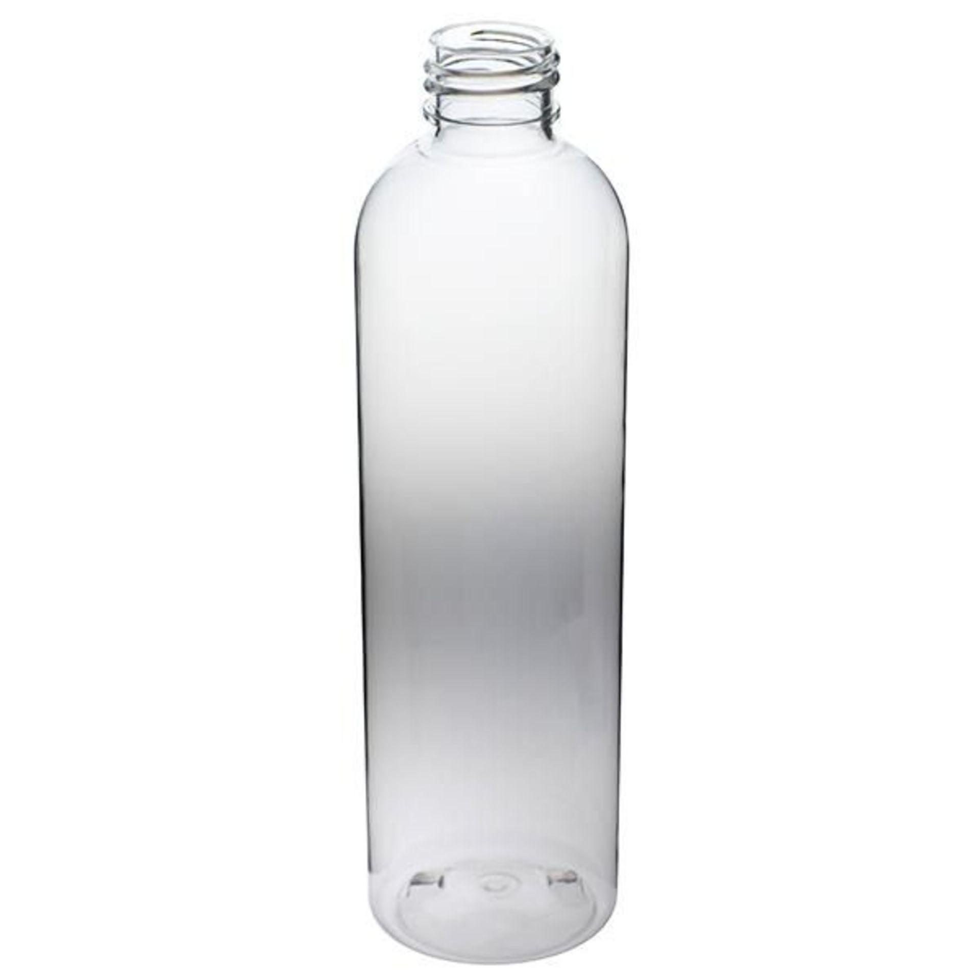 "75,000 - Clear Plastic Bullet 8 oz Empty Bottles, 24-410 Threading Neck, 6.25"" Tall, 2"" Diameter"