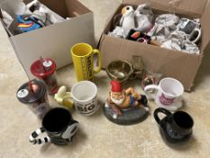 2 Boxes of 35+ Novelty New Mugs and Cups, Star Wars, Captain America, Comedy, etc etc
