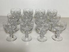 Set of 12 Crystal Glasses, Wine Goblets BXB