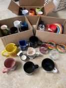 3 Boxes of 30+ Novelty Coffee Cups/Mugs, Star Wars, Comedy, Humor, Etc