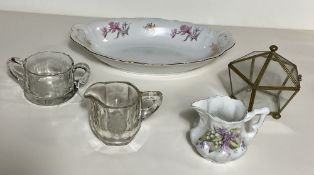 Czech Serving Bowl 'Bohemian China 1985' and Glass/Crystal Wears BXB