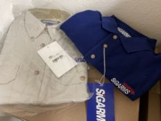 50 Sigarms Button-Up Shirts and Polos, Various Colors and sizes, Button-ups and Polos