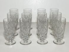Set of 12 Crystal Glasses, Tall BXB