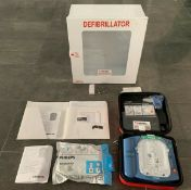 Philips HeartStart Home AED Defibrillator HS-1 W/Carry Case Wall Hangin Cabinet