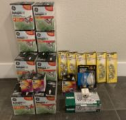 LARGE LOT OF BRAND NEW LIGHT BULBS, SEALED NEW MIXED STYLES