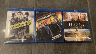 LOT OF 3 BLUE RAY DVD'S