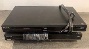 2 IDENTICAL PHILIPS DVD PLAYERS DVP3982/F7