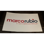 Marco Rubio Campaign Rally Sign - A New American Century