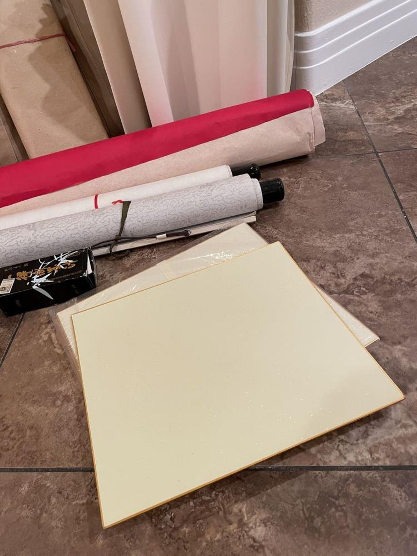 Large collection of Calligraphy Paper, Scrolls, Ink Etc - Image 4 of 7