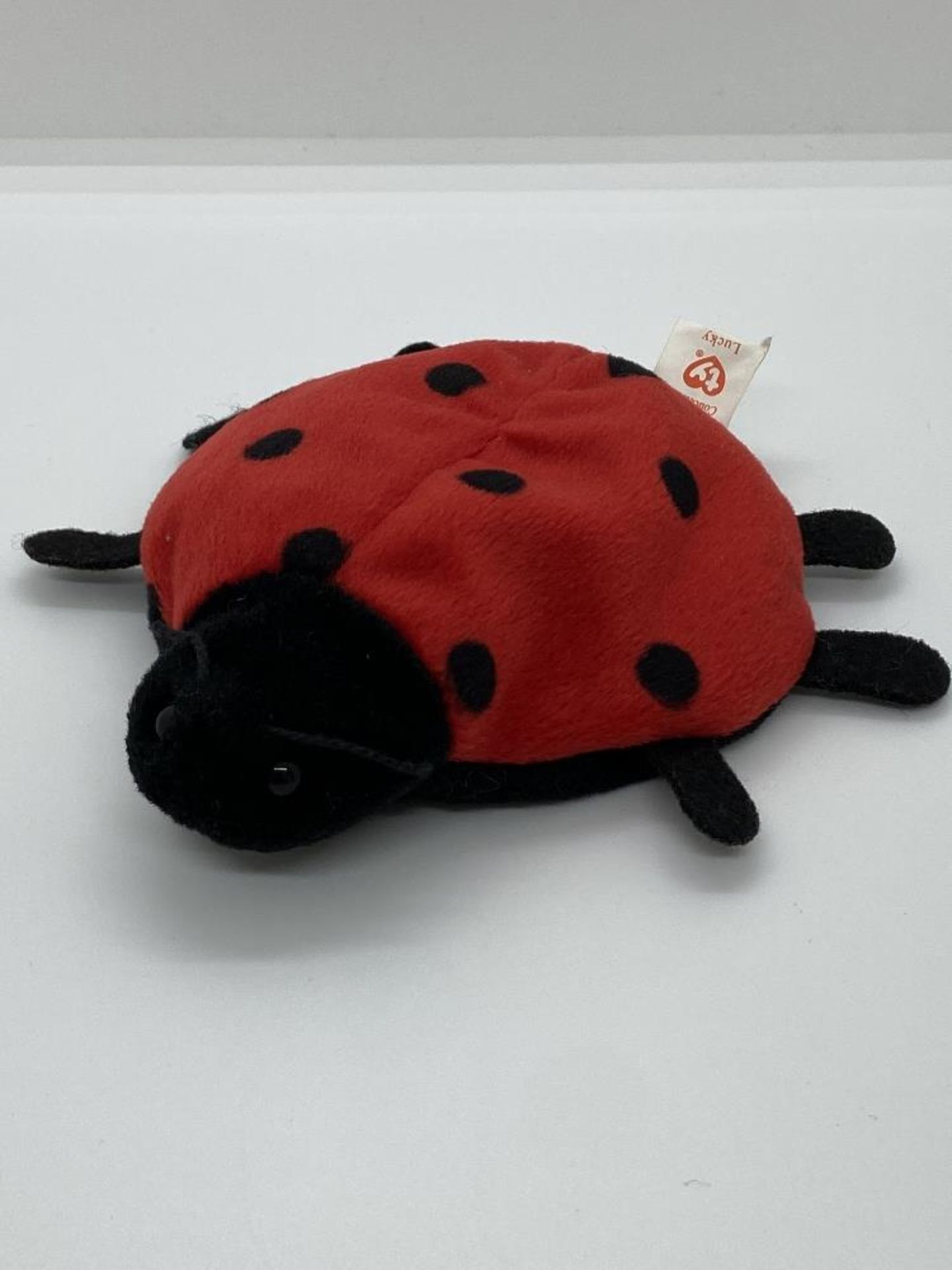 Ty Beanie Babies Lucky, The Ladybug, EARLY GEN 1993, PVC Pellets, w/o Hang Tag