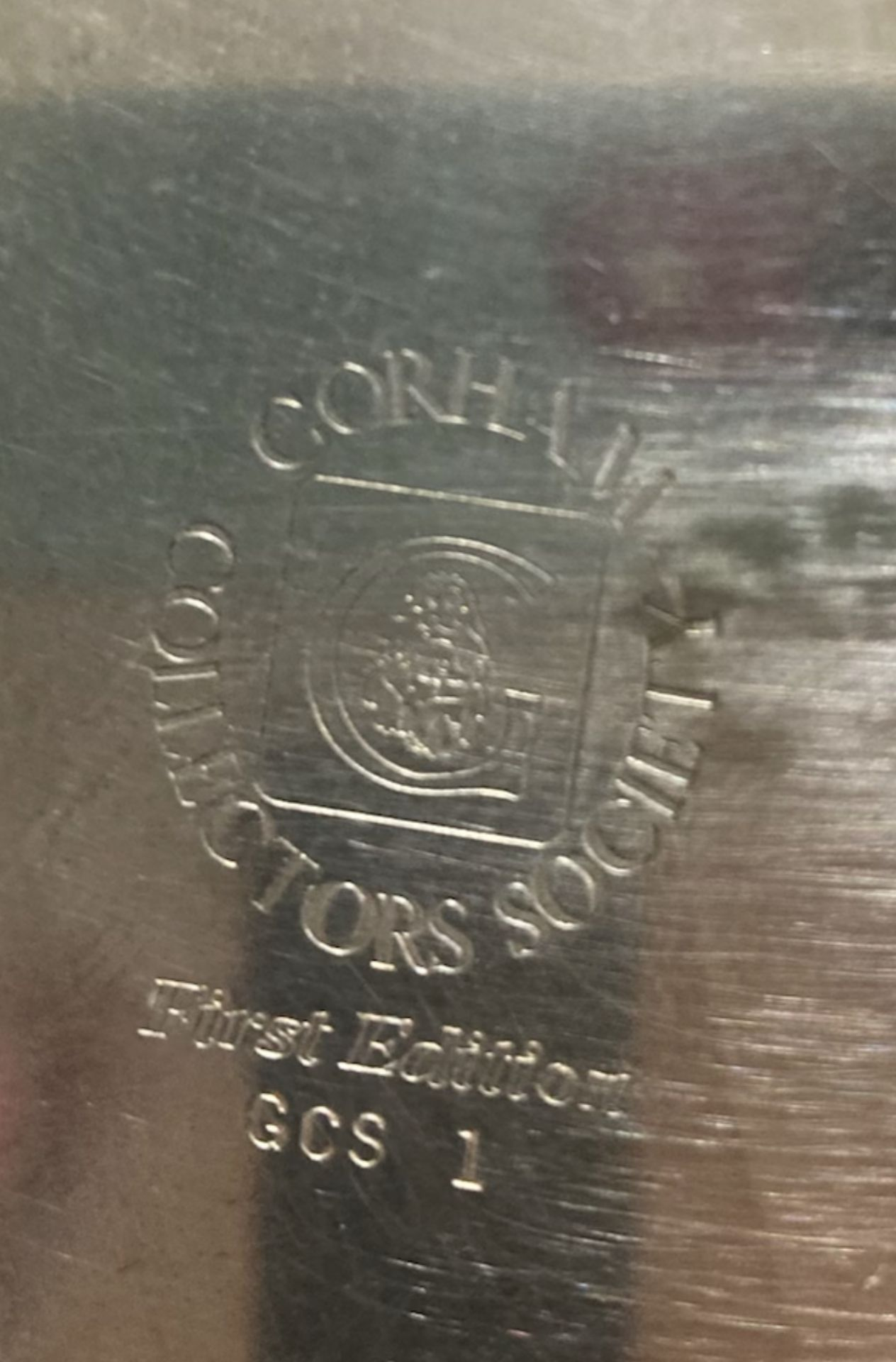 Norman Rockwell Plate in Silver (possibly plated) - Corham Collectors Society, First Edition, GCS 1 - Image 3 of 3