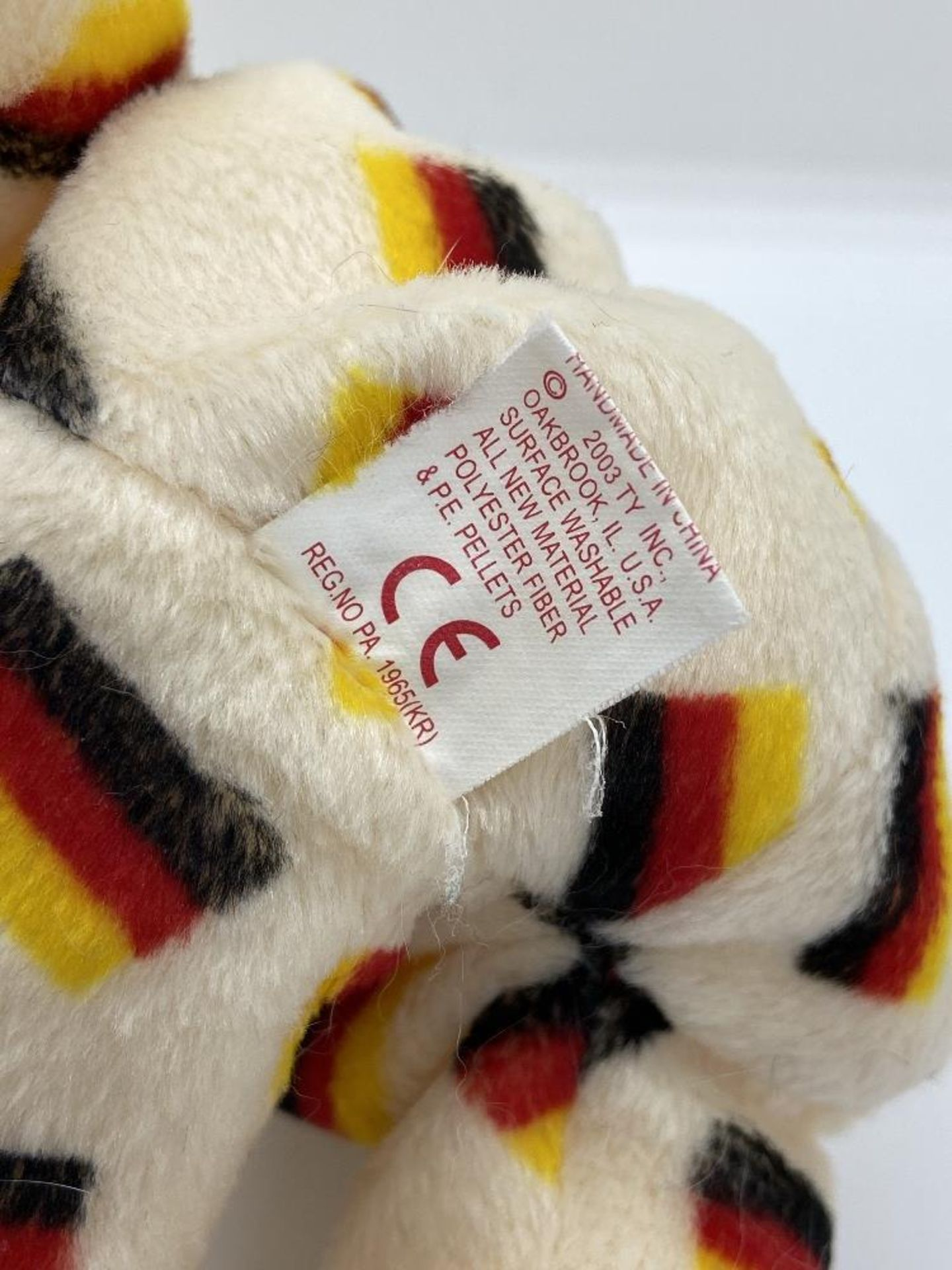 Ty Beanie Babies Deutschland, Germany Flag Bear, 2003 PE Pellets, w/o Hang Tags - Image 6 of 6