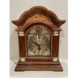 "Westminster Wood Antique Looking Clock Quartz - 16.5"" x 13"""