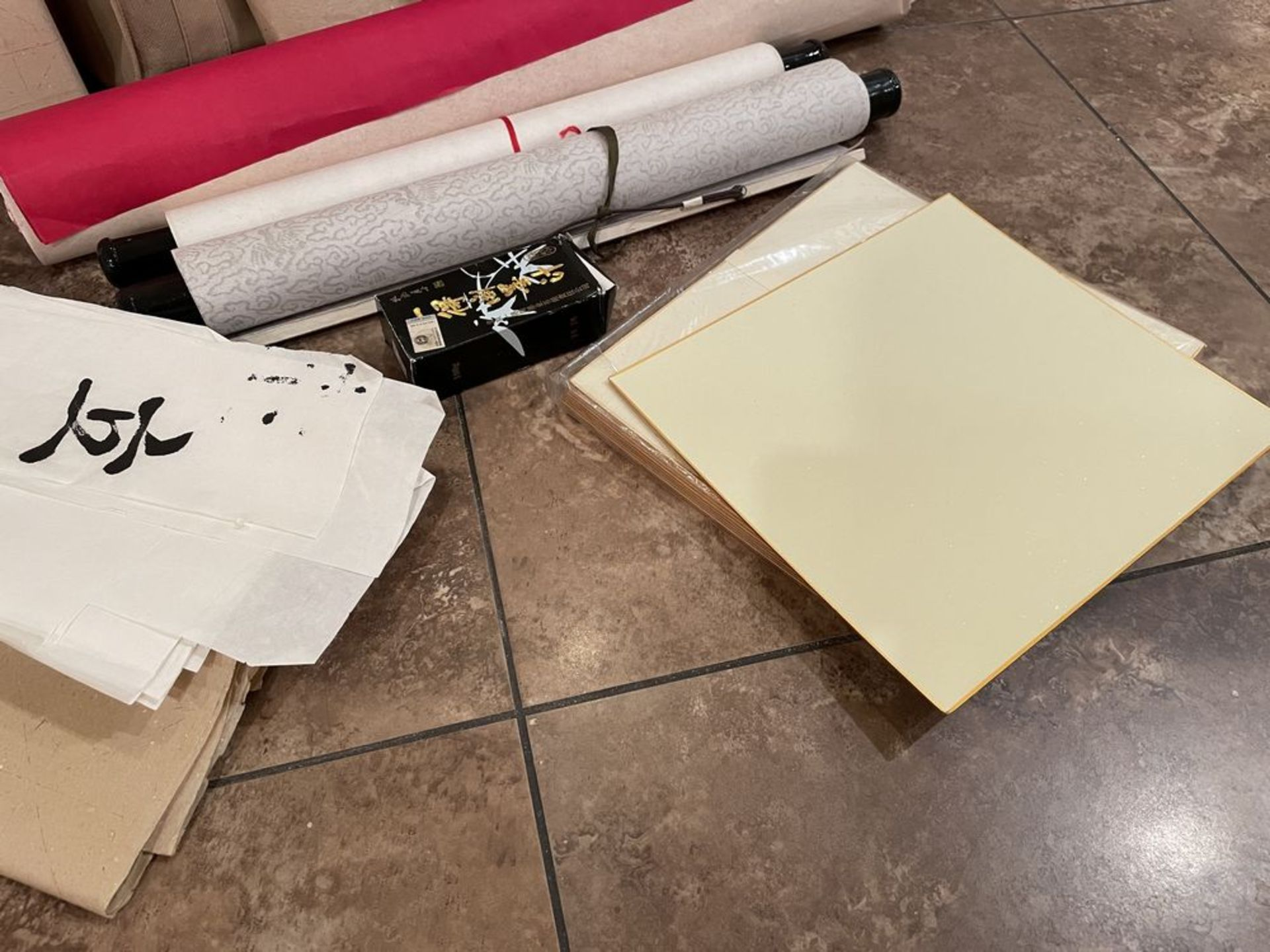 Large collection of Calligraphy Paper, Scrolls, Ink Etc - Image 7 of 7