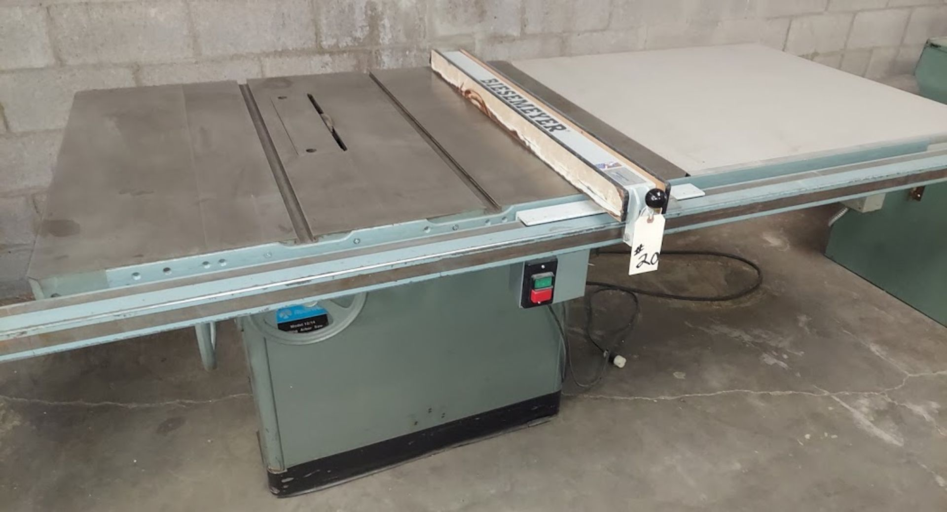 "Rockwell 12""/14"" Table Saw, Model # 34-395, 7.5 HP 230/460 Volt 3 Phase, Biesemeyer 52"" Rail & Fence"