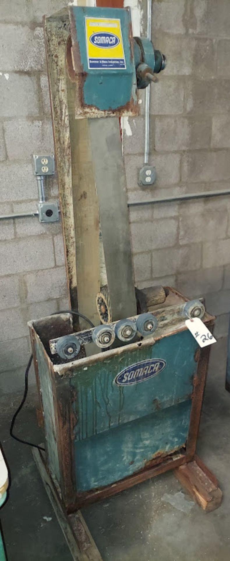 "Somaca 106"" Wet Abrasive Belt Machine with Roller Platen, Model # BM-1060-RP, 115 Volts - Image 2 of 4"