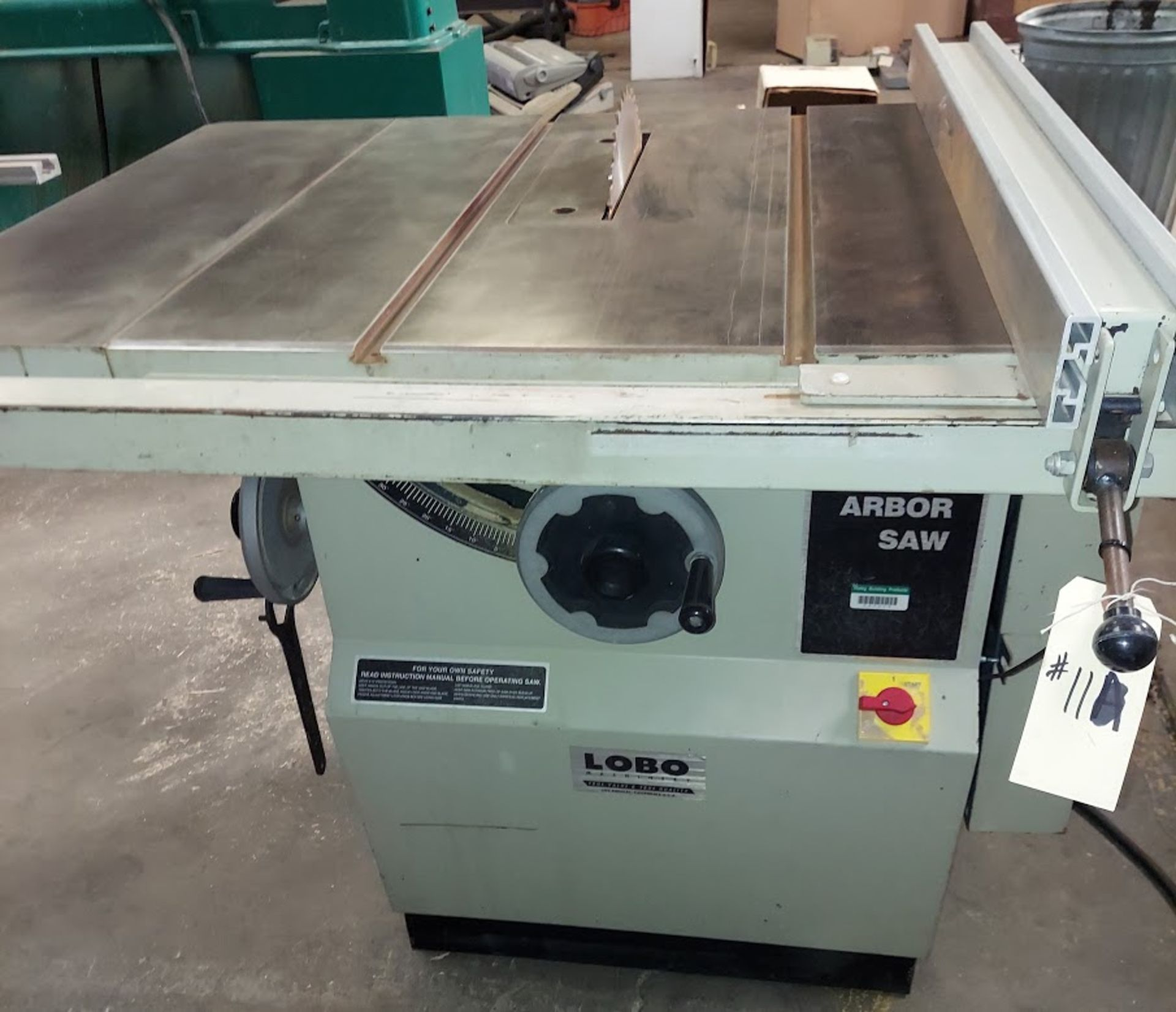 "Lobo 12"" Table Saw, Model #1212, 5 HP 220/440 Volts 3 Phase, 39"" Rails & Fence - Image 2 of 4"