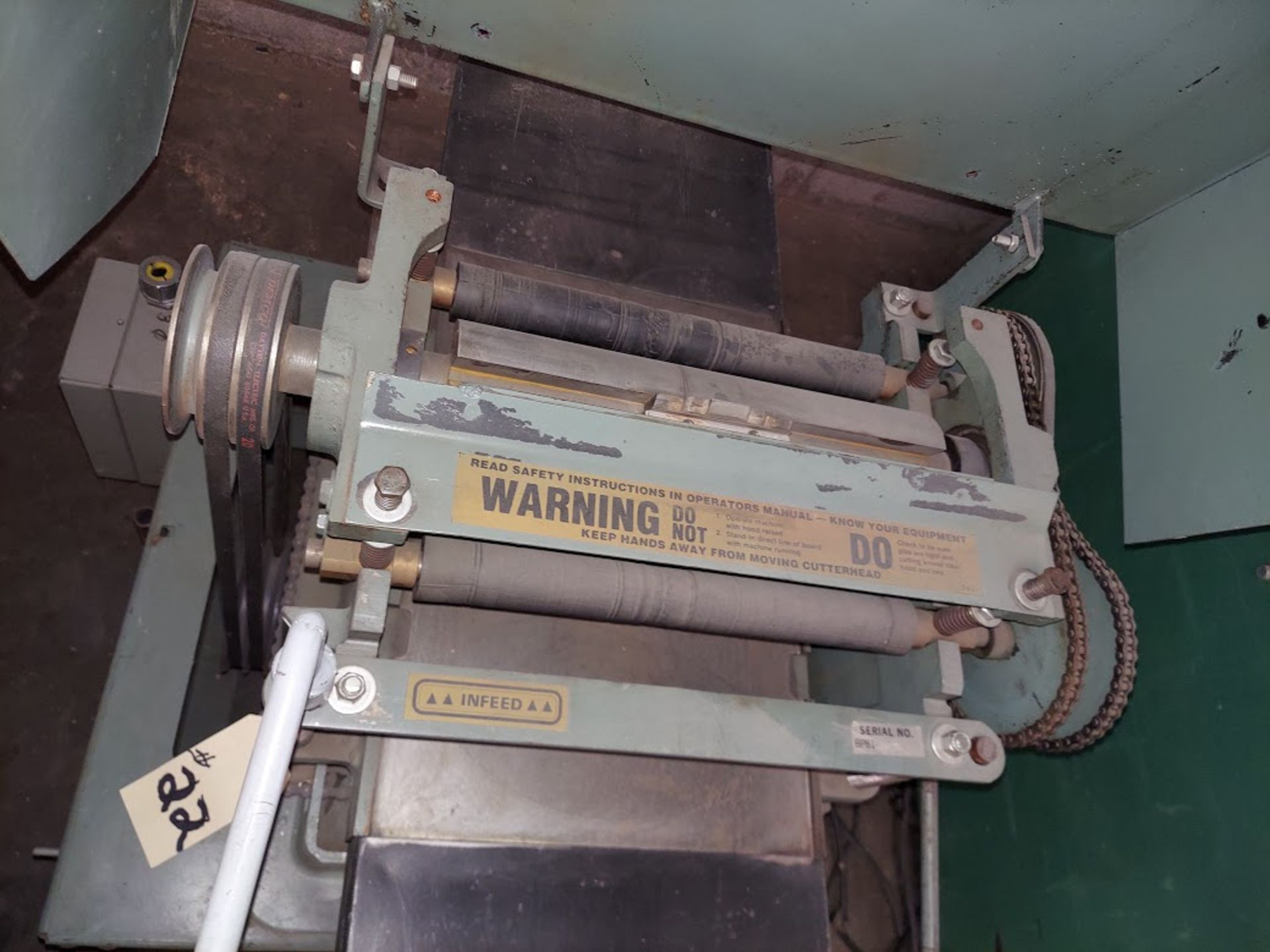 Foley Belsaw Molder Planer, 220 Volts 3 Phase Motor, Model # 9123 - Image 4 of 4