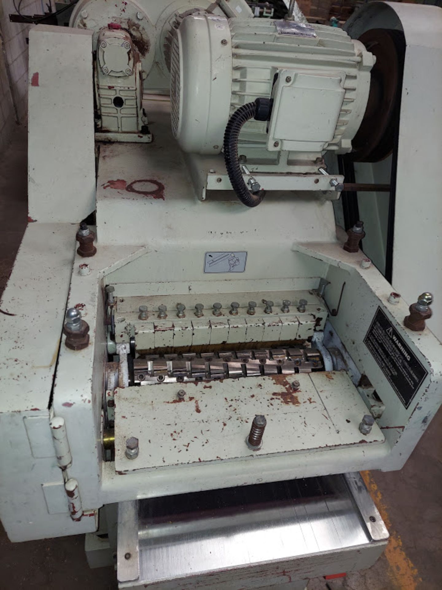 "Good Tek GT-400B Two Sided Planer, Top & Bottom 16"" Spiral Cutterheads, 10 Hp 230/460 Volts Top - Image 3 of 7"