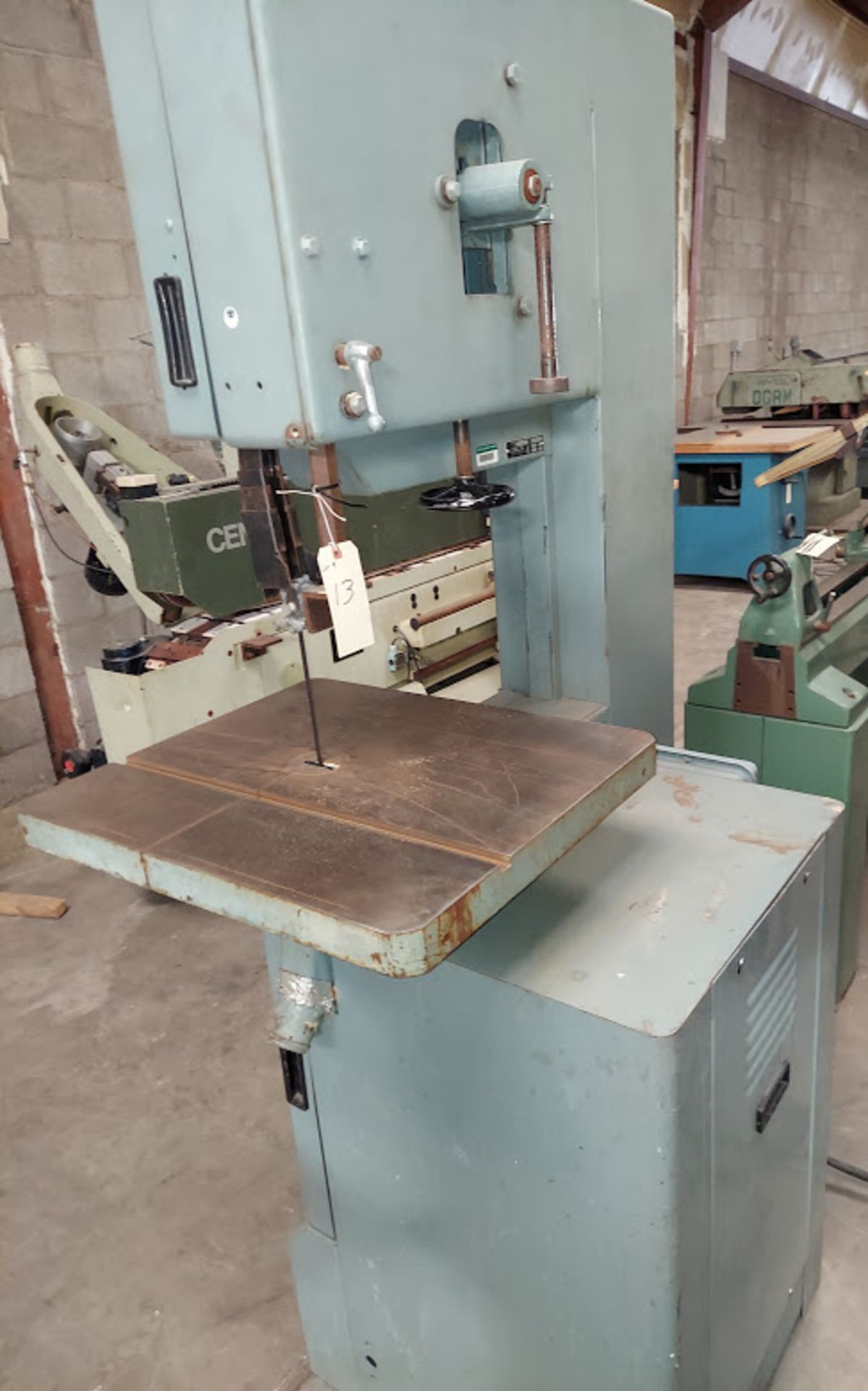 """Delta 20"""" Wood Cutting Bandsaw, Model #28-654, 2 HP 230 Volts 3 Phase, 2 Step Pully - Image 6 of 6"""