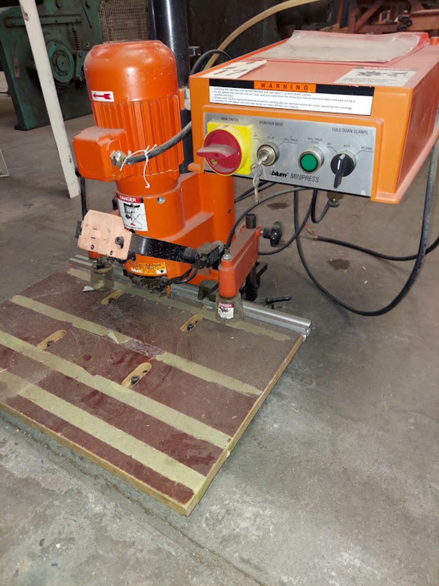 Blum Hinge Boring Machine, Ref #M51N1004 , 0.75 KW 230 Volts 3 Phase - Image 2 of 4