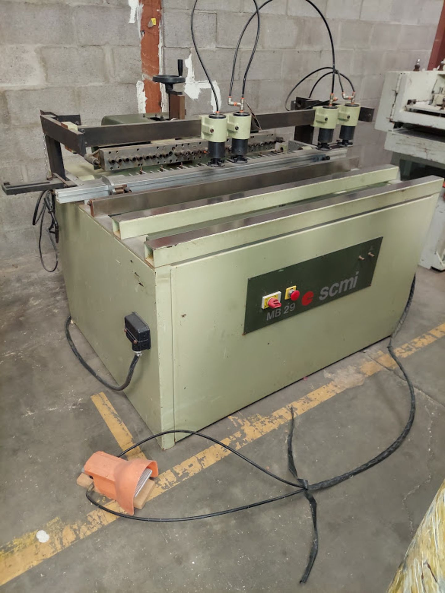 SCMI Construction Line Boring Machine, Model #MB29, 29 Spindles, 230 Volts 3 Phase