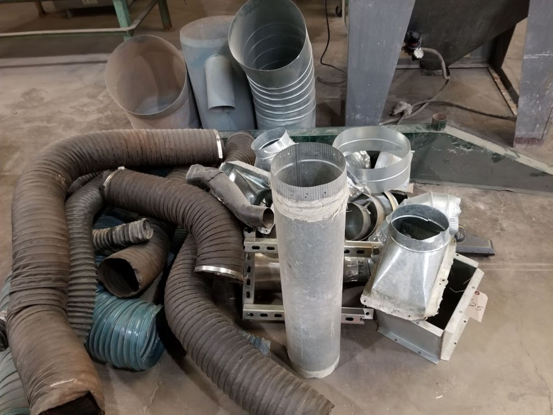 Misc Steel Dust Collecting Fittings & Hoses, Elbows, Blast Gates, Y's, & Reducers - Image 4 of 5