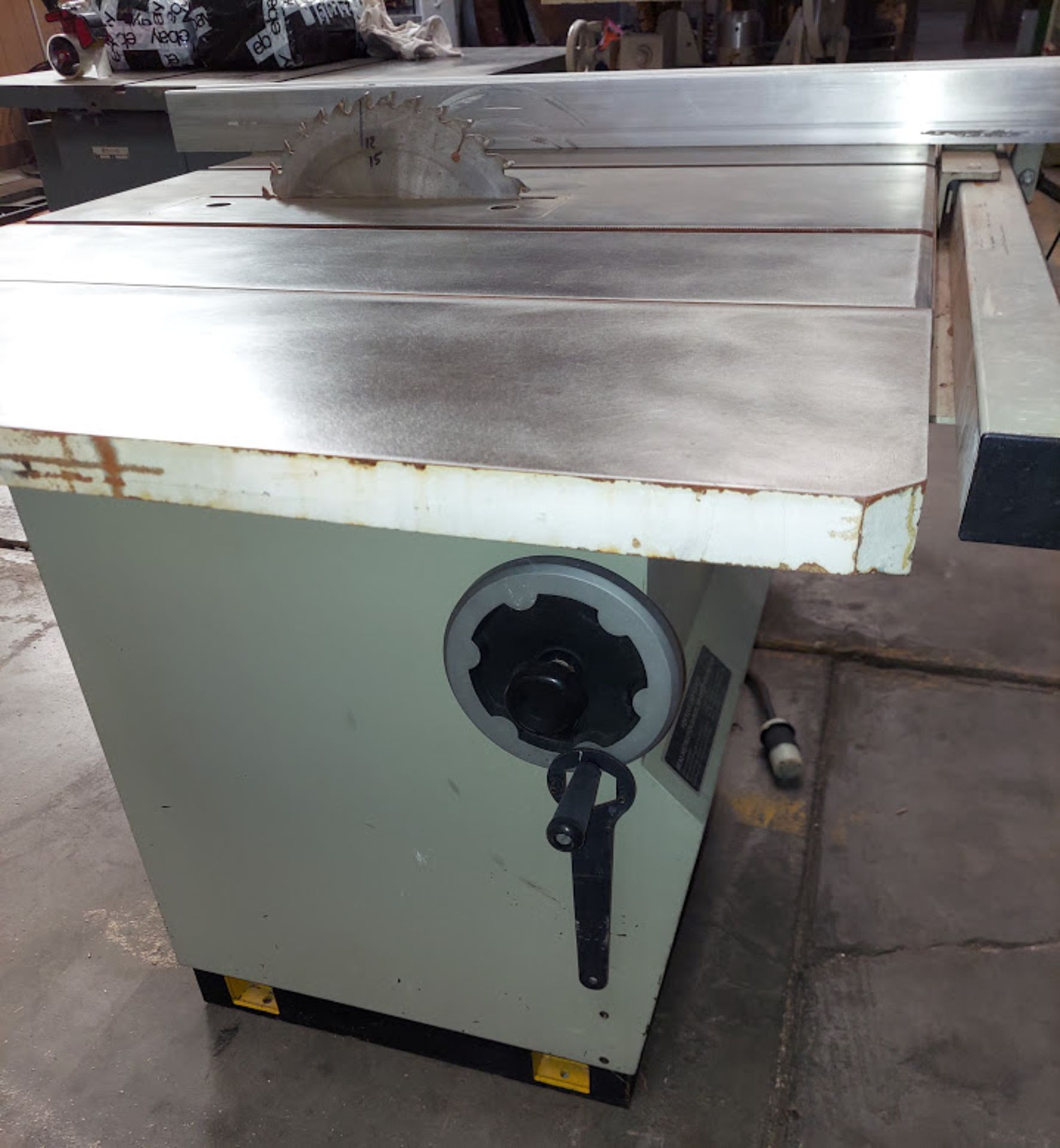 "Lobo 12"" Table Saw, Model #1212, 5 HP 220/440 Volts 3 Phase, 39"" Rails & Fence - Image 3 of 4"