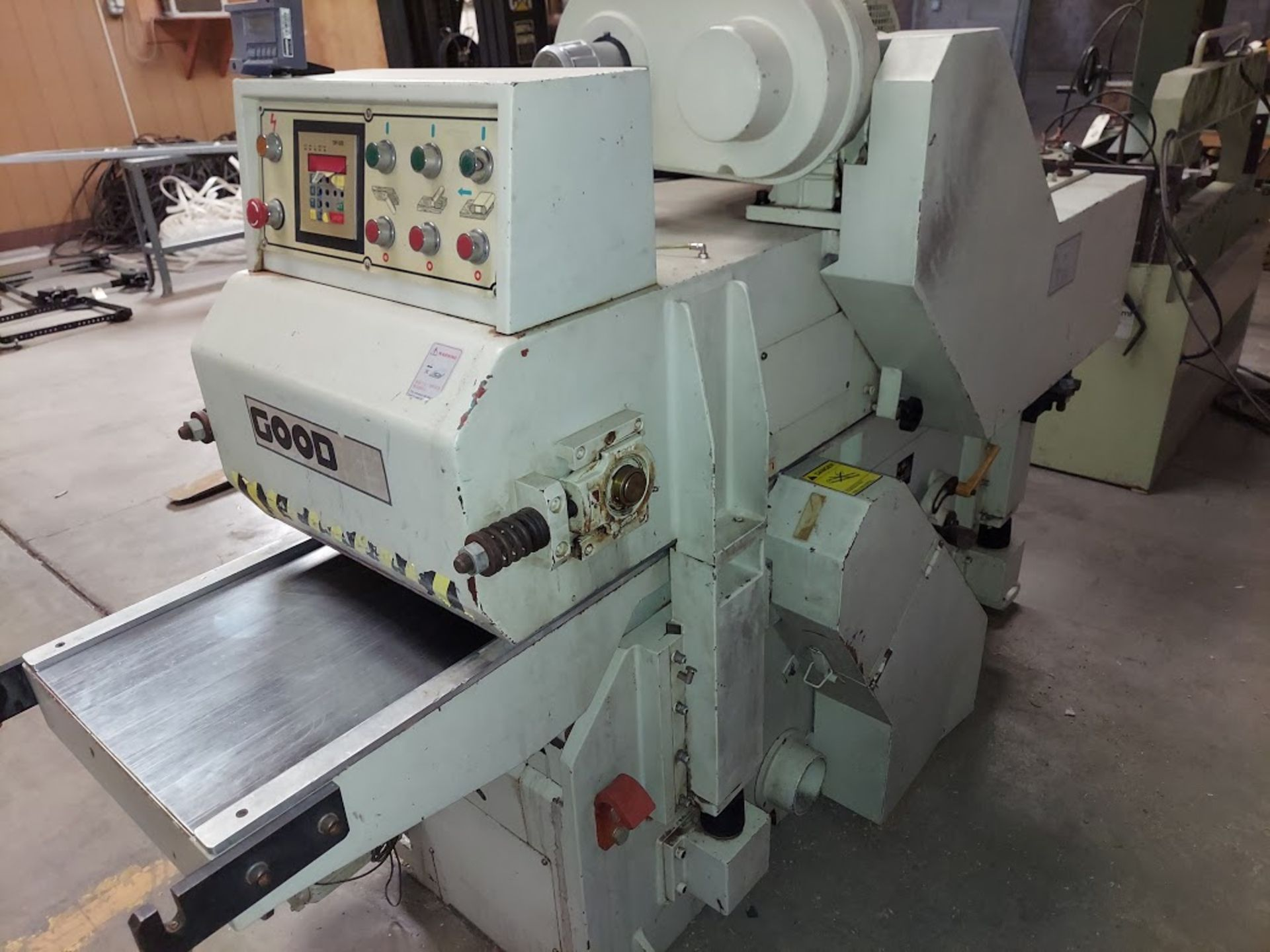 "Good Tek GT-400B Two Sided Planer, Top & Bottom 16"" Spiral Cutterheads, 10 Hp 230/460 Volts Top - Image 4 of 7"