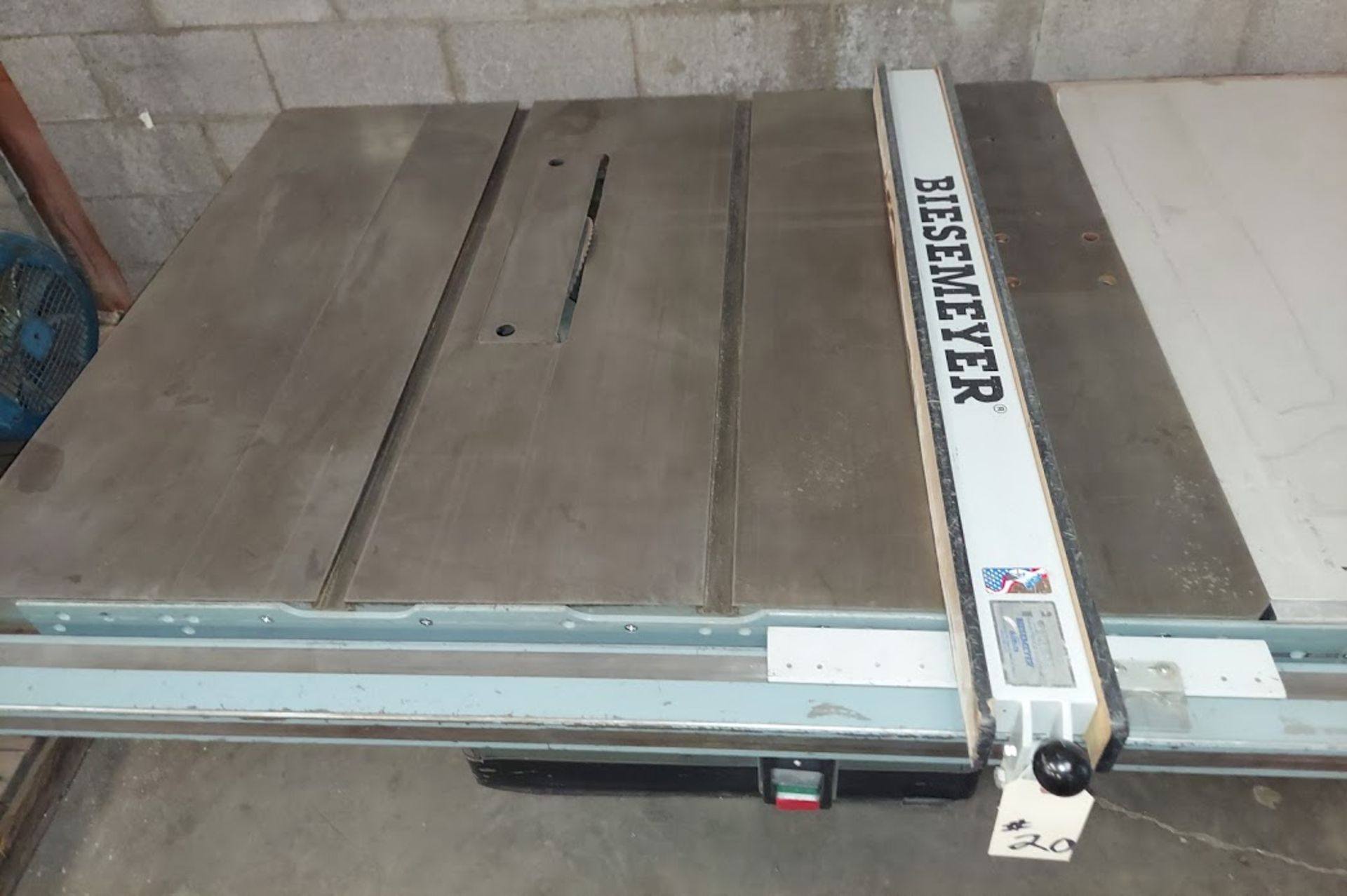 "Rockwell 12""/14"" Table Saw, Model # 34-395, 7.5 HP 230/460 Volt 3 Phase, Biesemeyer 52"" Rail & Fence - Image 2 of 4"