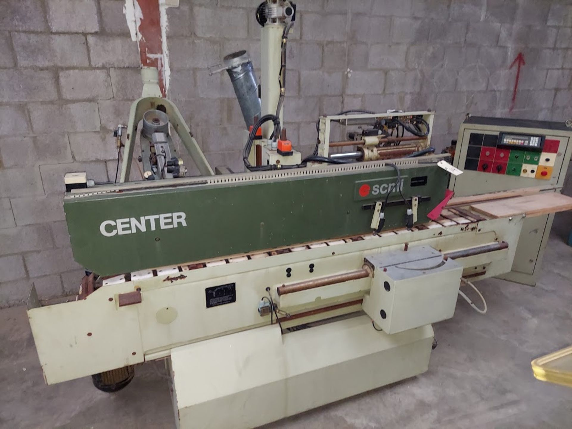 SCMI Center Machine, Model #Center, 1 - Shaper Head 230 Volt 3 Phase, Sanding Station, Power Feed
