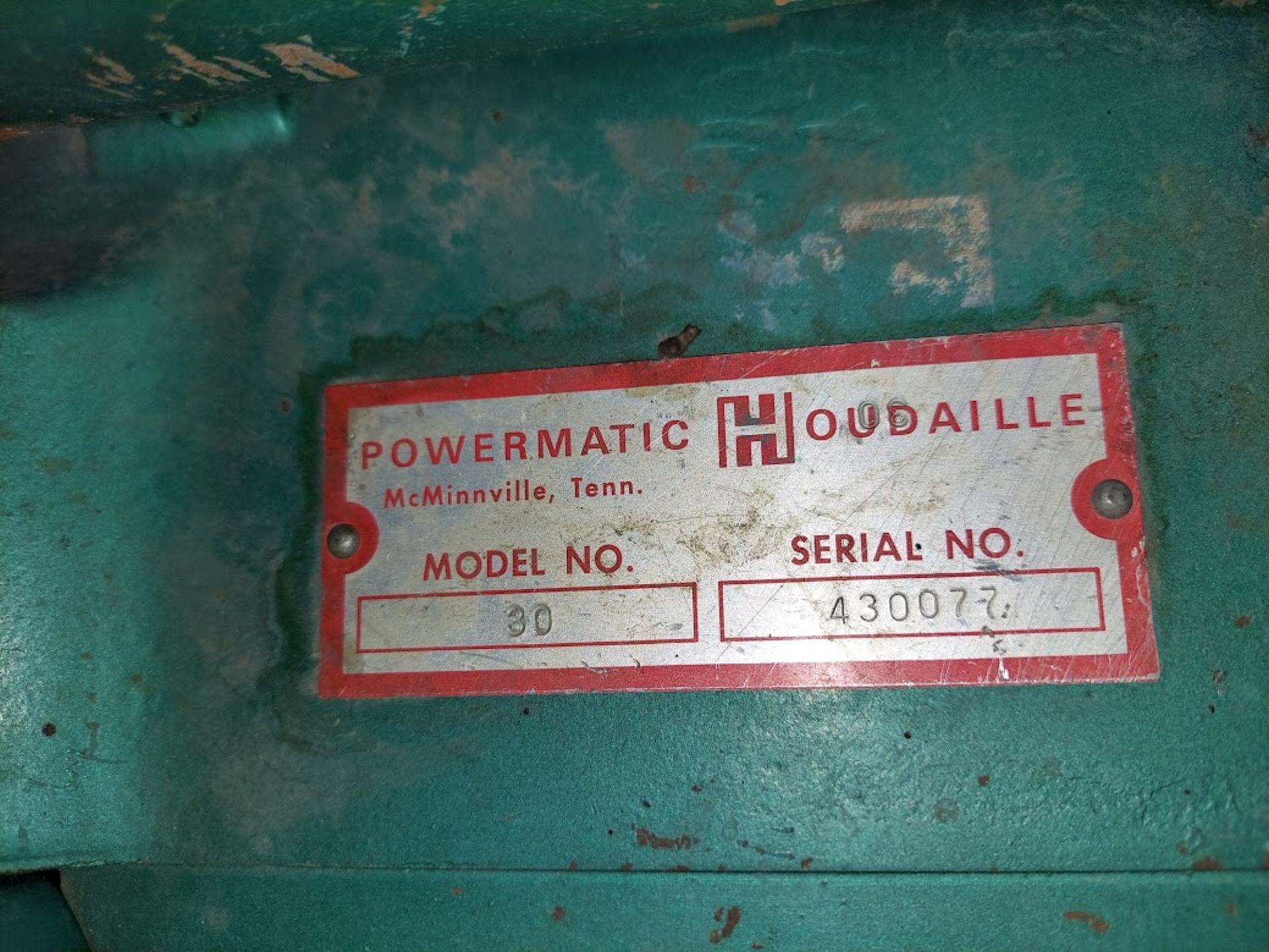 "Powermatic 6"" x 48"" Belt & 12"" Disc Sander, Model #30, 115/230 Volts 1 Phase Motor - Image 5 of 5"