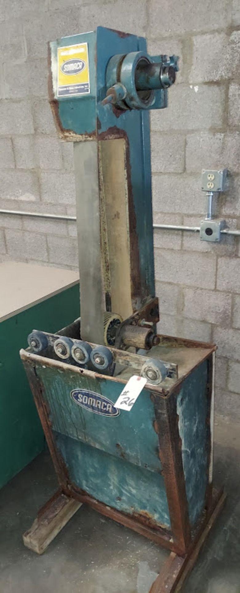 "Somaca 106"" Wet Abrasive Belt Machine with Roller Platen, Model # BM-1060-RP, 115 Volts"