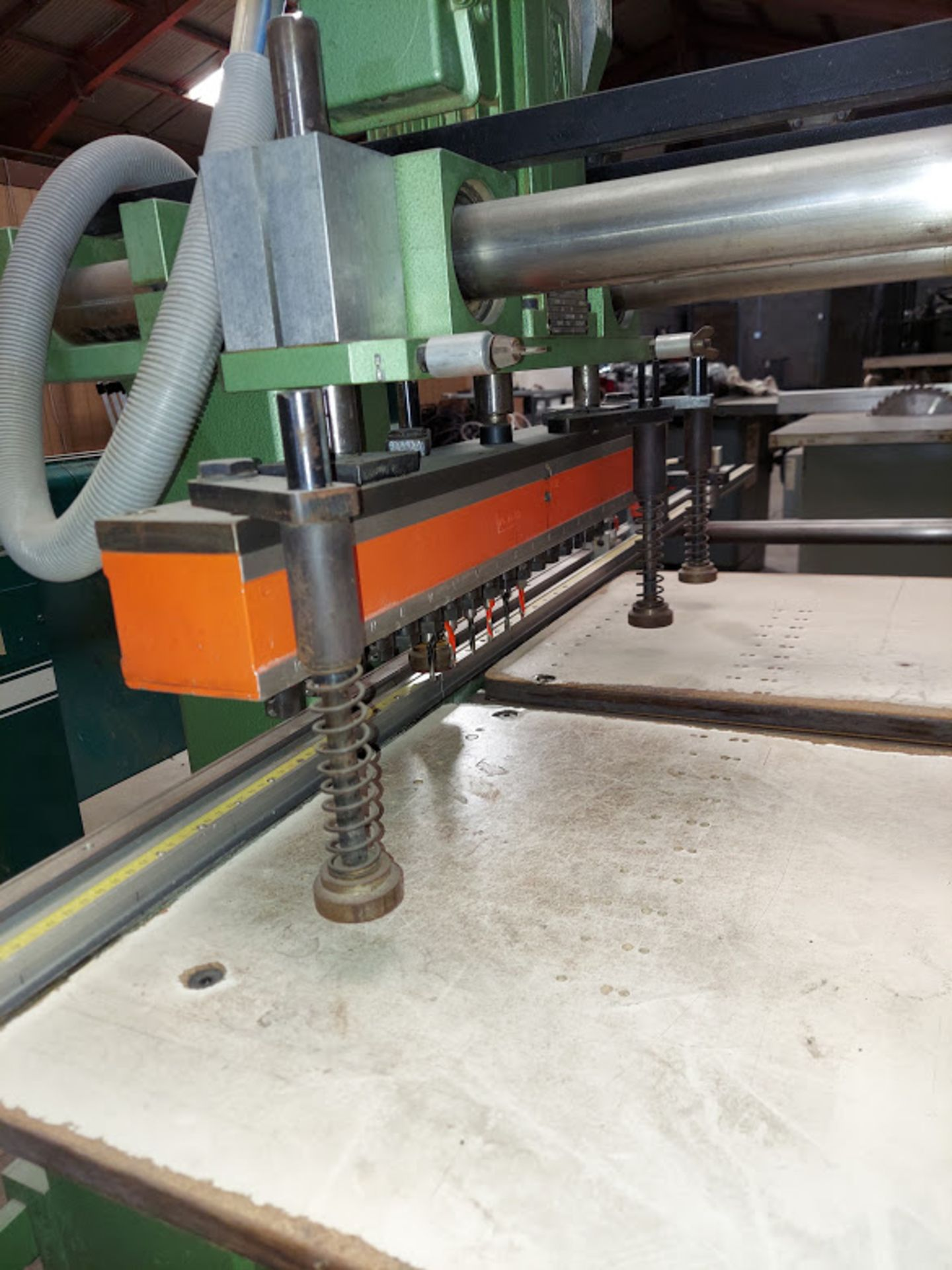 Ayen 21 Spindle Line Boaring Machine, Model #LRB 32-21, 230 Volts 3 Phase, Pneumatic foot peddle, - Image 5 of 5