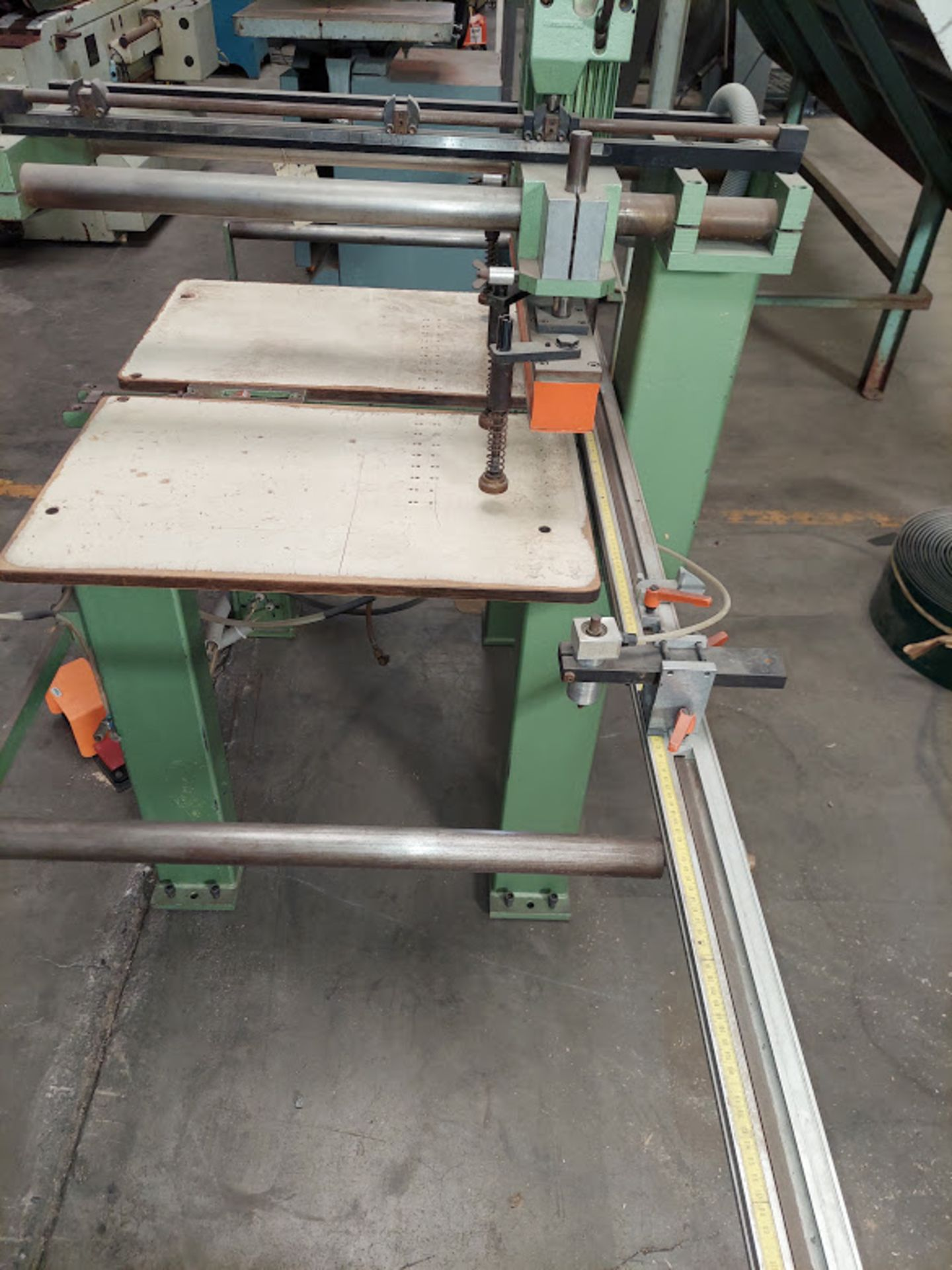 Ayen 21 Spindle Line Boaring Machine, Model #LRB 32-21, 230 Volts 3 Phase, Pneumatic foot peddle, - Image 4 of 5