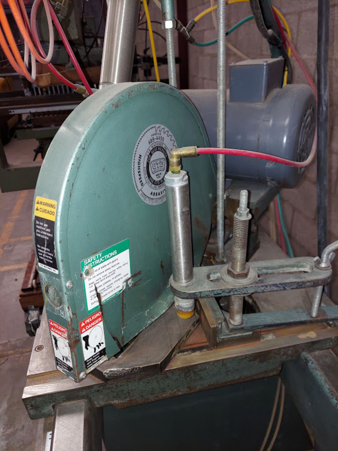 "CTD 12"" Double End Trim & Miter Saw, Model #DM200, 2 - Baldor 2 HP 230/460 Volts 3 Phase - Image 4 of 6"