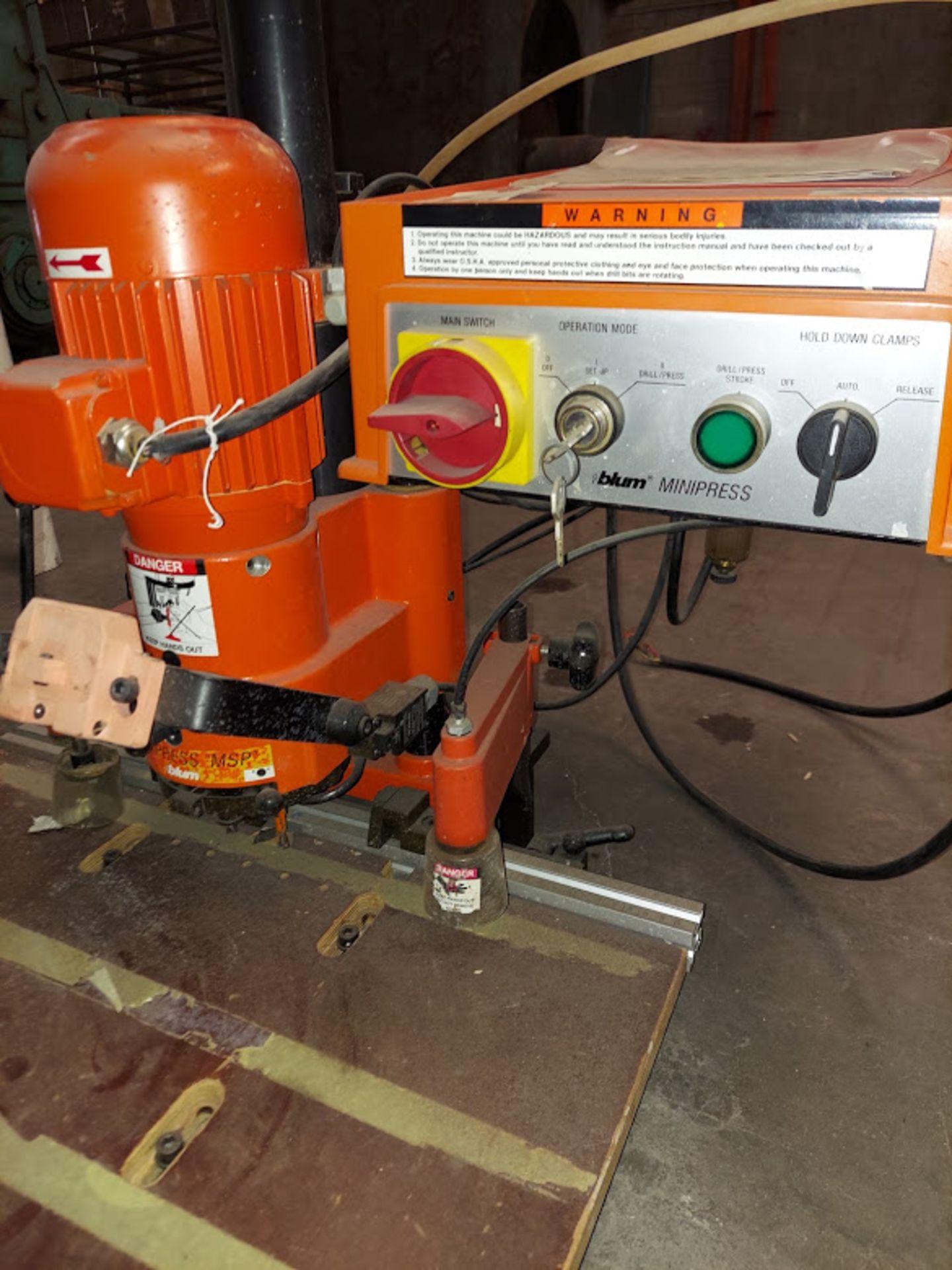Blum Hinge Boring Machine, Ref #M51N1004 , 0.75 KW 230 Volts 3 Phase - Image 3 of 4