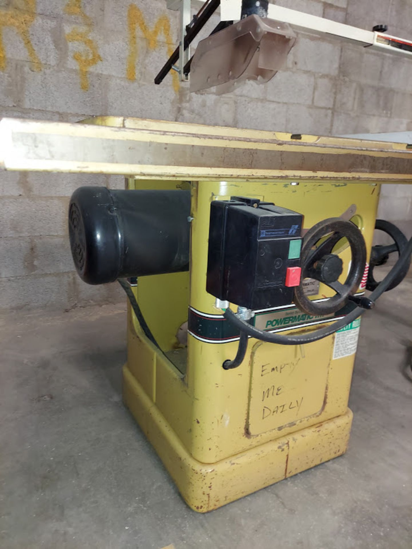 """Powermatic 10"""" Table Saw, Model #66 53"""" Rails & Fence, Baldor 5HP 230 Volts 3 Phase Motor, - Image 4 of 5"""