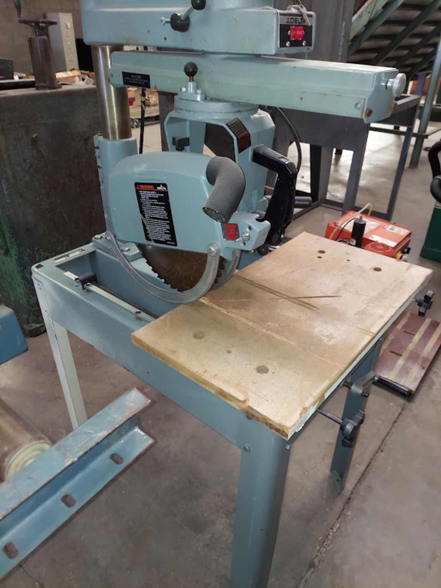 """Delta 12"""" Radial Arm Saw, Model #33-890 115/230 Volts 1 Phase Motor - Image 2 of 3"""