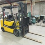 """Caterpillar 4,750 Forklift, Model # GC30K, 3 Stage, 87"""" Lowered & 199"""" Raised, Side LP Fuel, Cushion"""