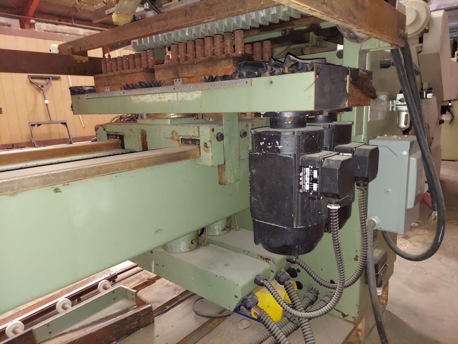 Zangheri & Boschetti Mulit Mat P3 Line Boring Machine, Model #MP3, 1 - 21 Spindle Horizontal Drill - Image 5 of 7