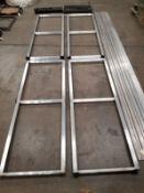 Aluminum Track Assembly, 4 - Carts, 3 - Aluminum Track 15 Foot Long