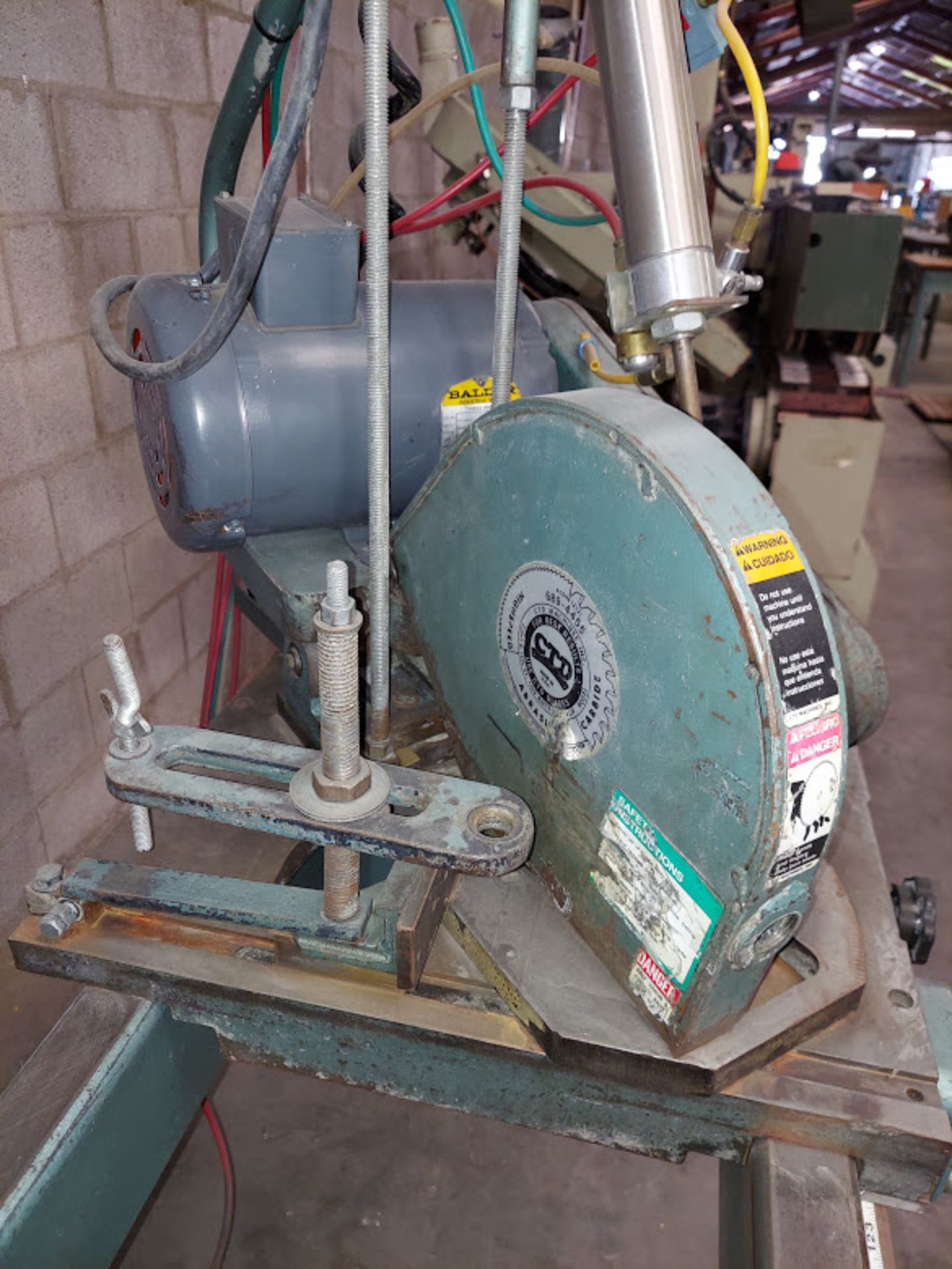 "CTD 12"" Double End Trim & Miter Saw, Model #DM200, 2 - Baldor 2 HP 230/460 Volts 3 Phase - Image 3 of 6"