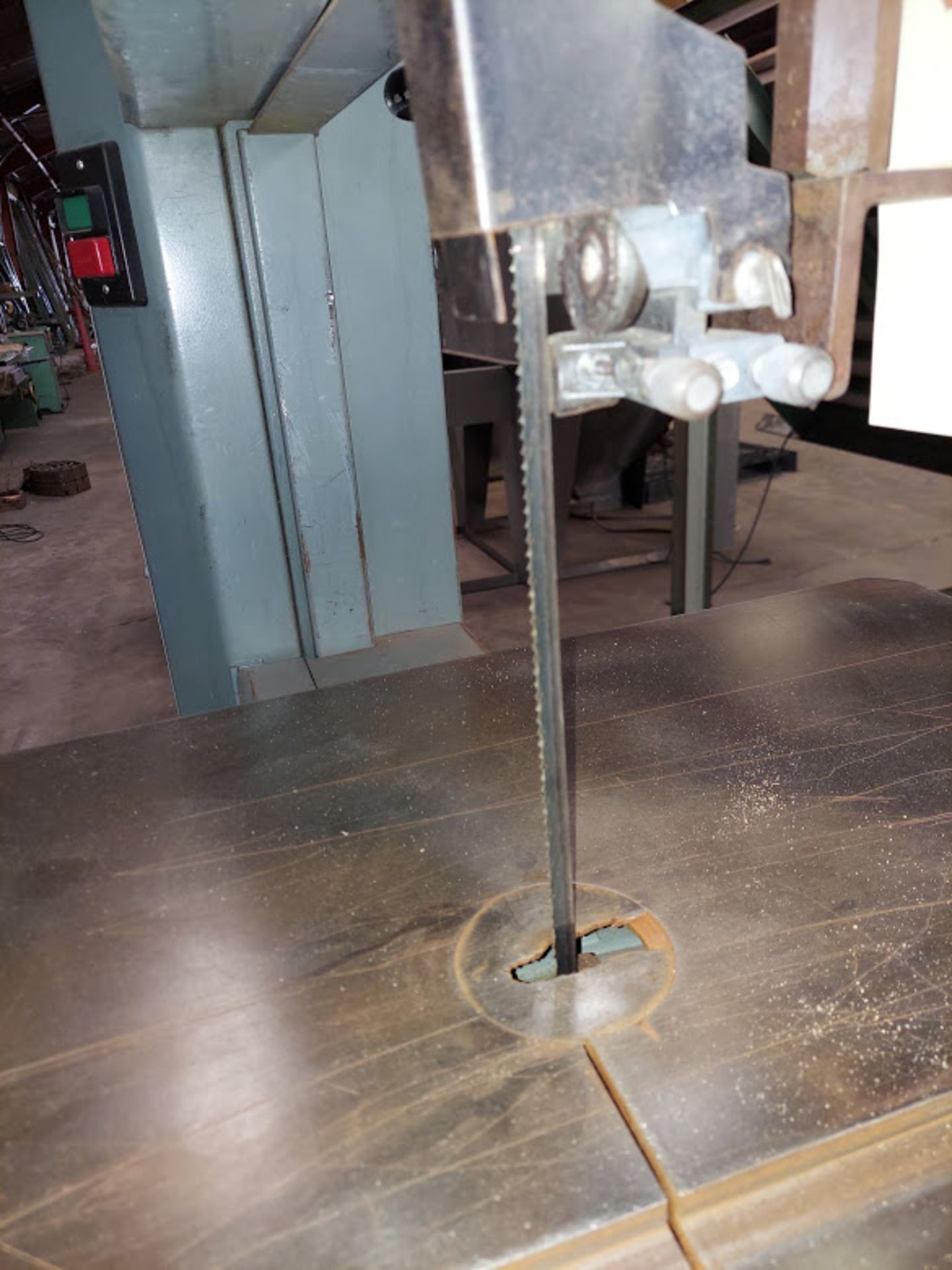 """Delta 20"""" Wood Cutting Bandsaw, Model #28-654, 2 HP 230 Volts 3 Phase, 2 Step Pully - Image 4 of 6"""